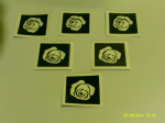 Rose flower stencils for etching on glass